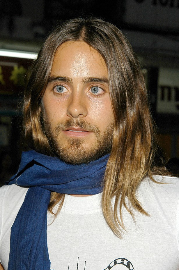 2004 gave us a glimpse of what was to come – it was early days for Leto's glossy tresses.