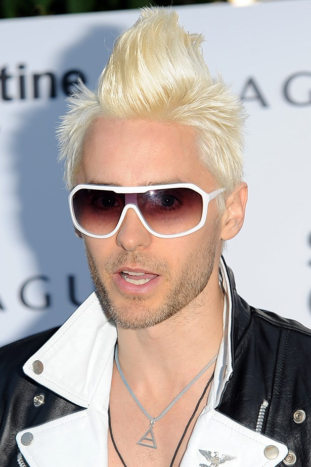 Leto's bleach-blonde Mohawk was a stand-out at the Serpentine Gallery Summer Party in London.