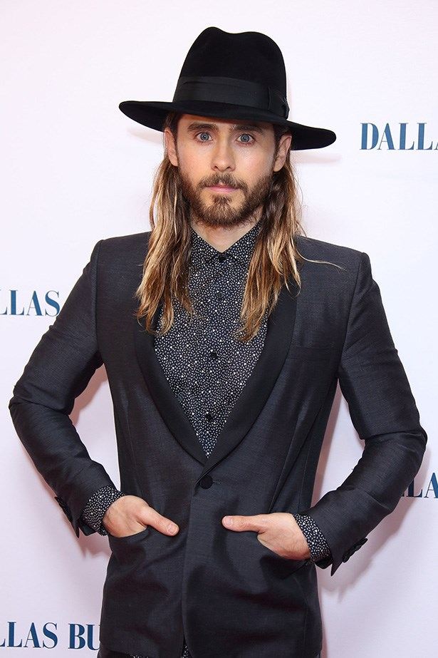 Looking suave at the <em>Dallas Buyers Club</em> UK premiere, Leto's fedora was the perfect complement to his sea-salt textured hair.