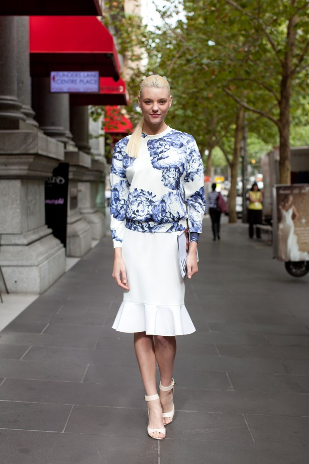 <p>Montana Cox wears Lover top and skirt with Givenchy heels. </p> <p>Photography: Liz McLeish</p>