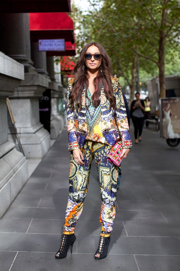 "<p>Camilla Frank wears Camilla.</p> <p>Photography: Liz McLeish</p> <p><a href=""http://www.elle.com.au/fashion/street-style/2014/3/vamff-14-street-style/vamff-nicole-warne/"">See the street style from day one of VAMFF</a></p>"