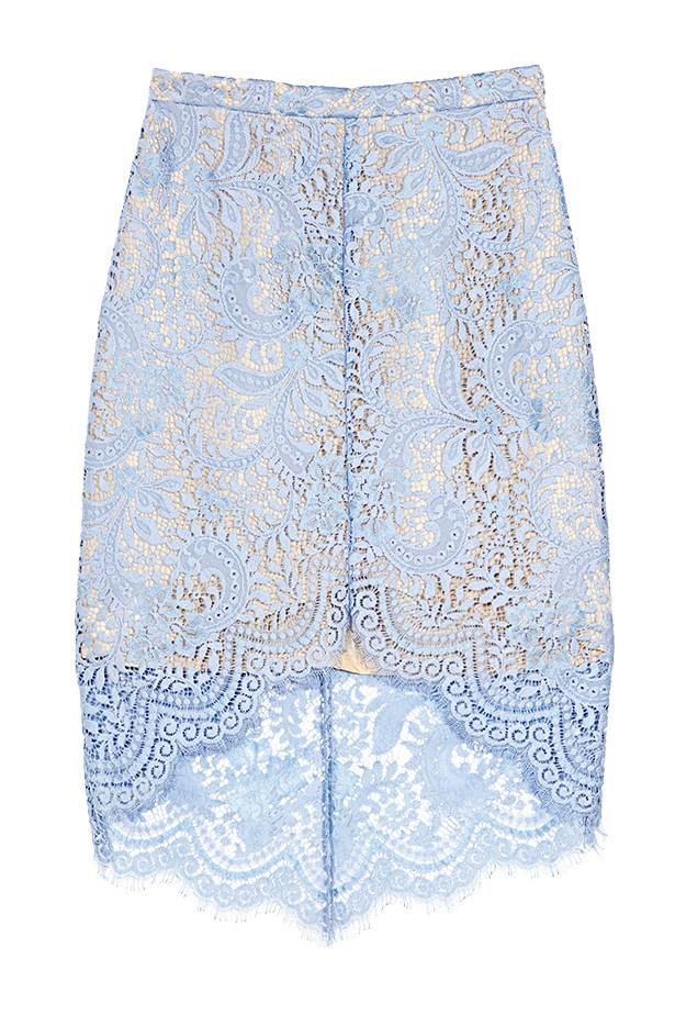 "Skirt, $495, Lover, <a href=""http://www.loverthelabel.com"">loverthelabel.com</a>"