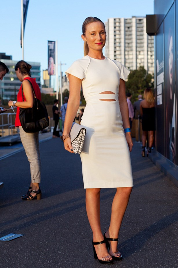 "Bridgette McCall wears Life With Bird dress, Loeffler Randall bag and Costume National heels. <p>Photography: Liz McLeish</p> <p><a href=""http://www.elle.com.au/fashion/street-style/2014/3/vamff-14-street-style/vamff-nicole-warne/"">See the street style from day one of VAMFF</a></p>"