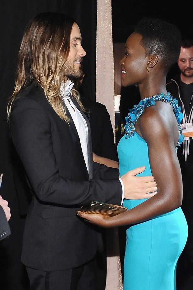 <strong>Lupita Nyong'o & Jared Leto<BR></strong> On weekends: yoga, vegan breakfasts and UN human rights fundraisers.