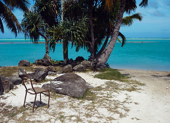 """""""The water around One Foot Island in the Aitutaki Lagoon was almost highlighter blue."""""""