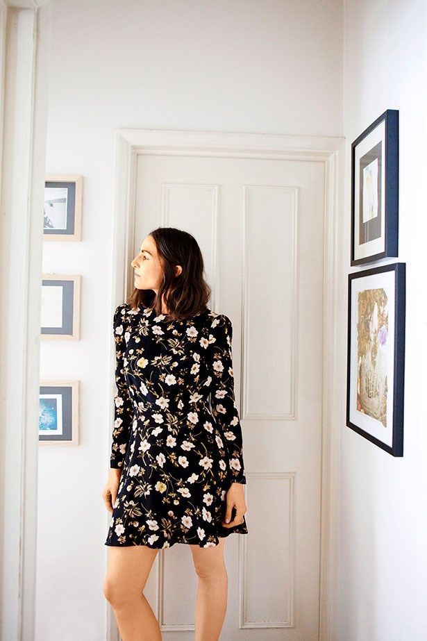 London based stylist Celestine Cooney in her Hackney apartment