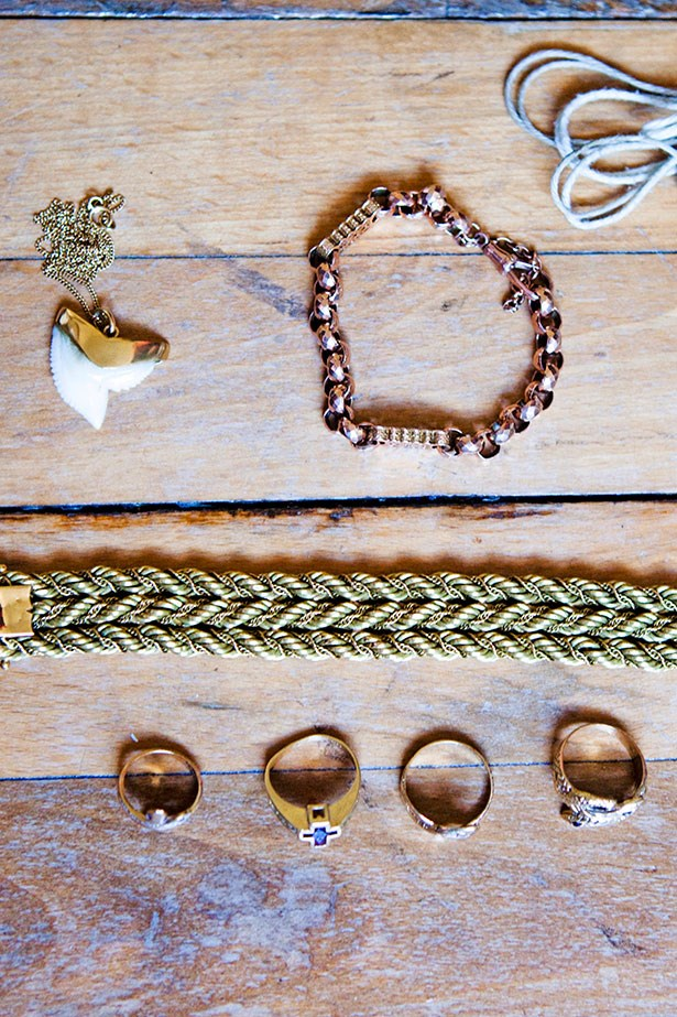 Unique pieces of jewellery individualise Cooney's look