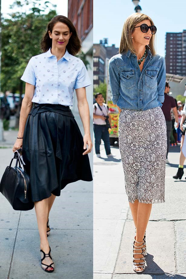 <p>Opposites attract</p> <p>If your wardrobe is an Aladdin's cave of guilt-inducing statement pieces, a shirt can give them a boost of longevity. An intricately beaded evening skirt can become day-worthy paired with a simple cotton shirt and casual rolled-up sleeve – styles with slouchy sleeves work best as they drape rather than hug the arm. Or give lace a tomboy twist with a chambray shirt cuffed at the wrist.</p>