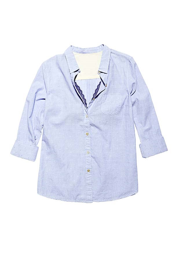 "<p>Shirt, $120, Maison Scotch, <a href=""http://www.scotch-soda.com.au"">scotch-soda.com.au</a></p> <p>Bra, $110, Lover, <a href=""http://www.loverthelabel.com"">loverthelabel.com</a></p>"