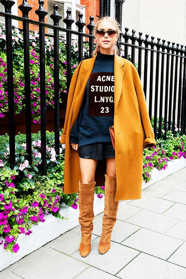 """""""I've always had a soft spot for an over-the-knee, slightly risqué boot, and this camel suede pair is red hot."""""""