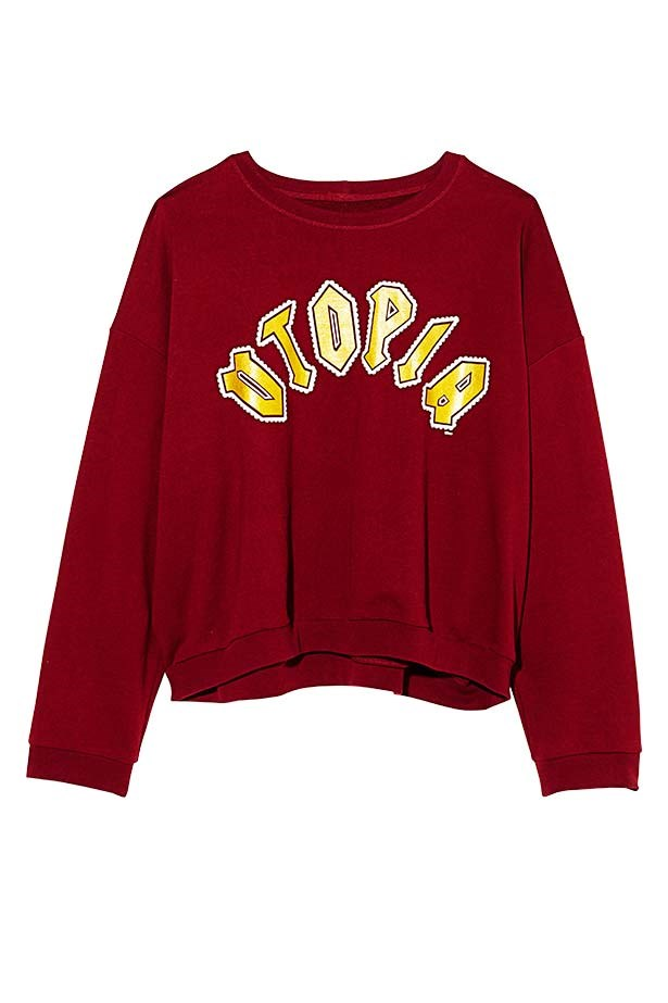 "Sweatshirt, $183, Karen Walker, <a href=""http://www.karenwalker.com"">karenwalker.com</a>"