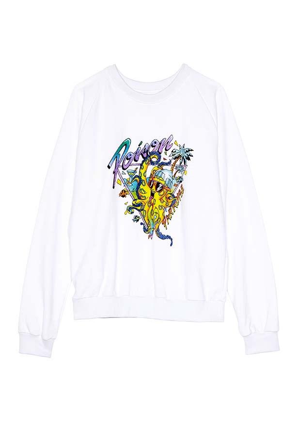 """Sweatshirt, $200, Emma Mulholland, <a href=""""http://www.emmamulholland.com"""">emmamulholland.com</a>"""