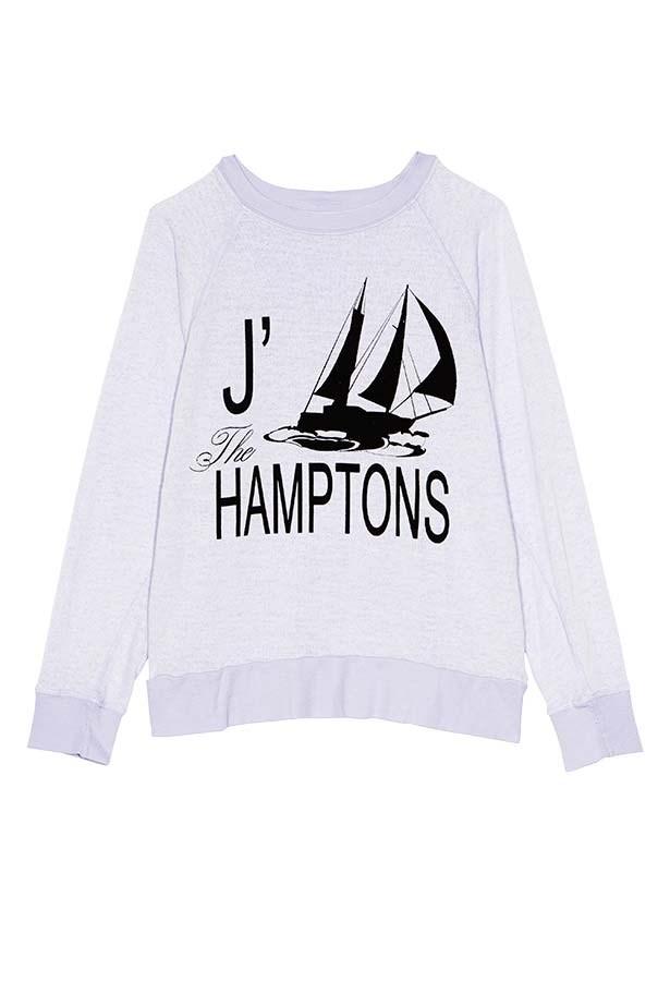 Sweatshirt, $118, Wildfox, (03) 9528 7300