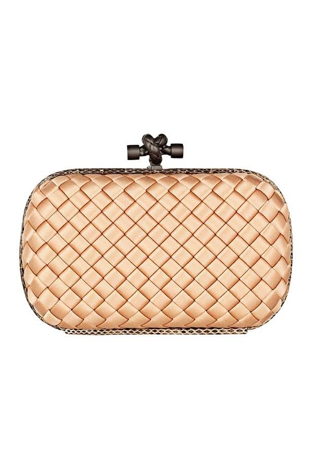 "Clutch, approx $2,048, Bottega Veneta, <a href=""http://www.net-a-porter.com"">net-a-porter.com</a>"