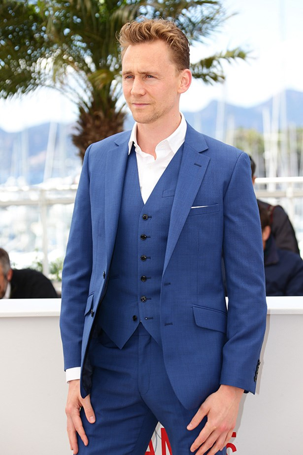 Rocking a three-piece blue suit in Cannes last year