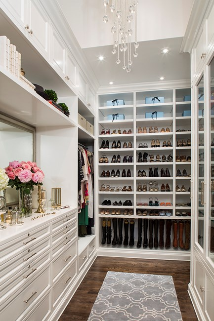 Storage is key to a beautiful closet