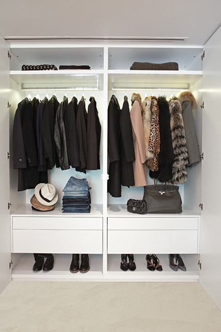 You want your closet to look like a shop