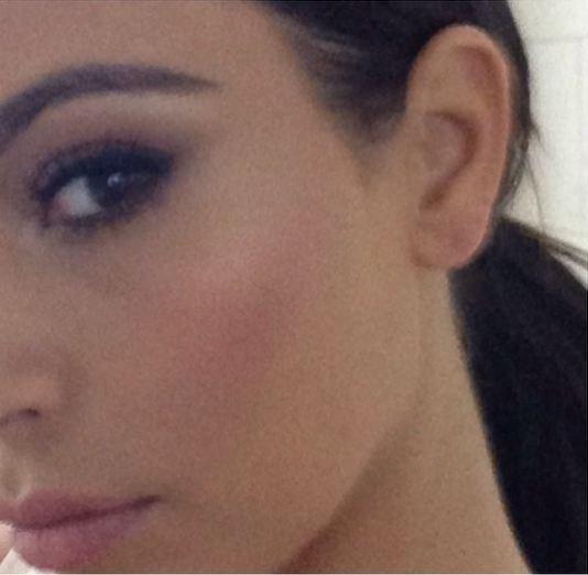 A close up of Kim Kardashian's smokey eye