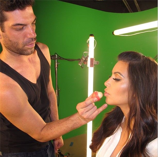 Kim Kardashian getting made up