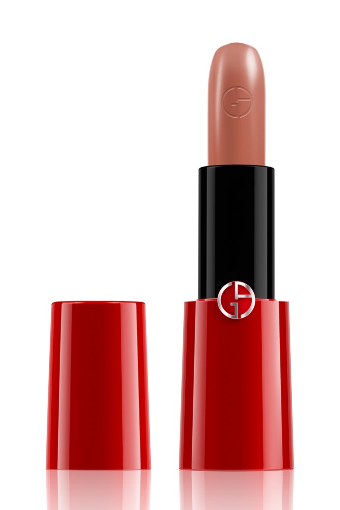 Rouge Ecstasy in 100, $52, Giorgio Armani, 1300 651 991 Rouge Ecstasy is the first CC (Colour & Care) lipstick of its kind – looking after chapped, dry lips while packing a highly pigmented punch of colour.