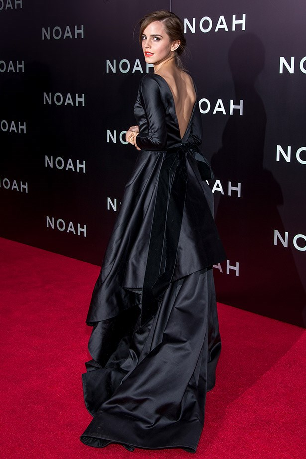 Emma Watson looking glamorous at the <em>Noah </em>New York premiere.
