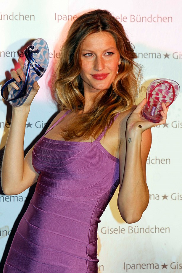 According to Forbes, 32-year-old Giselle Bündchen is worth a staggering $42 million.  Most of the cash is due to her endorsement deals, but this supermodel also owns a hotel in Brazil and her sandal and rubber thong range, Ipanema, actually outsells Havianas.