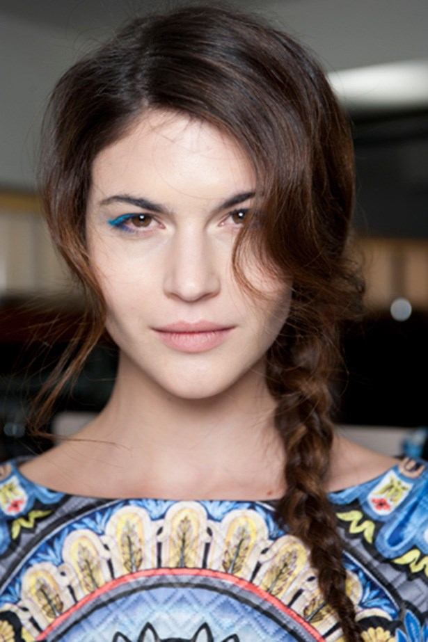 Temperley's runway featured a romantic side pony-plait – perfect for a relaxed wedding.