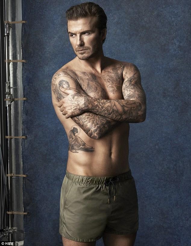 David Beckham's swimwear line for H&M by photographer Glen Luchford.