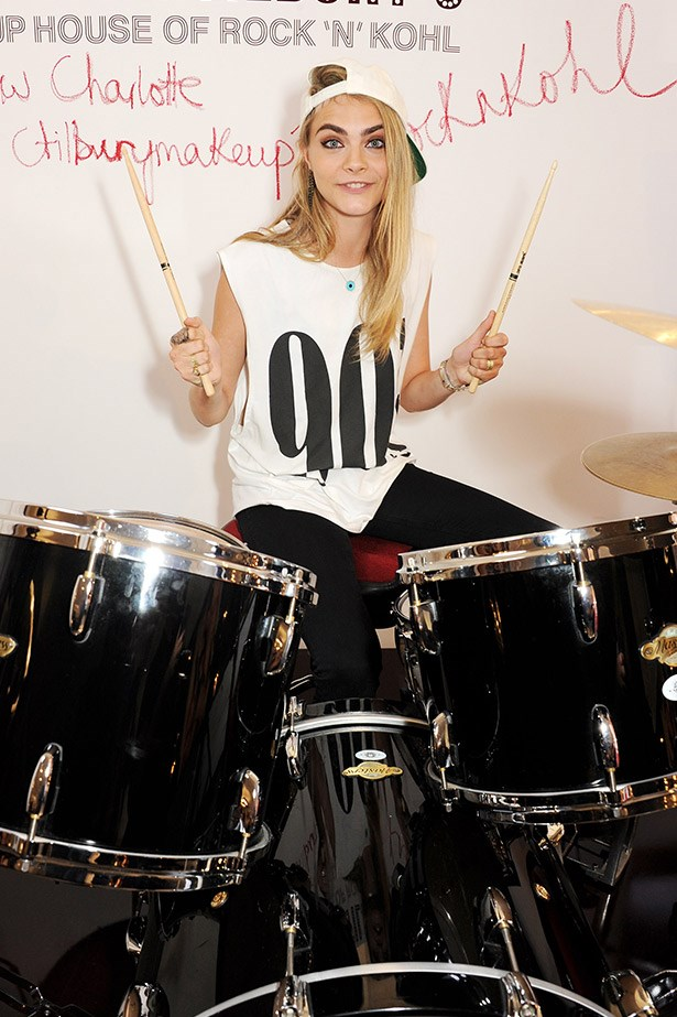 Cara Delevigne feeling the beat.