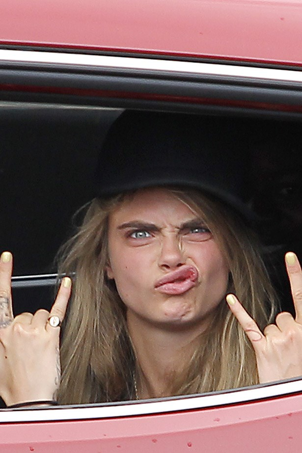 Cara Delevigne, lover of hand gestures.