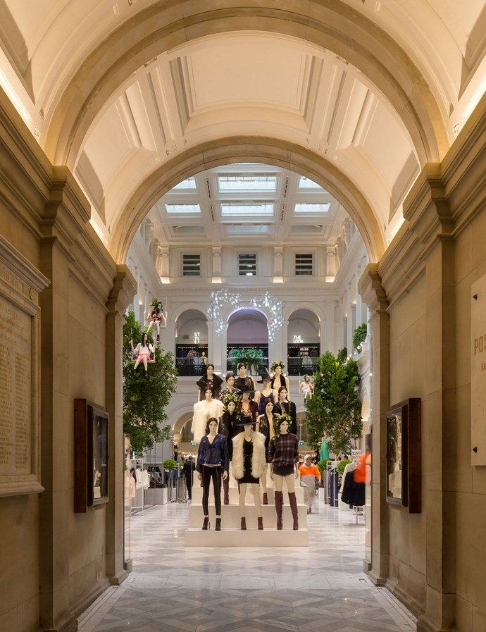 Impressive entrance into H&M's store within Melbourne's iconic GPO building