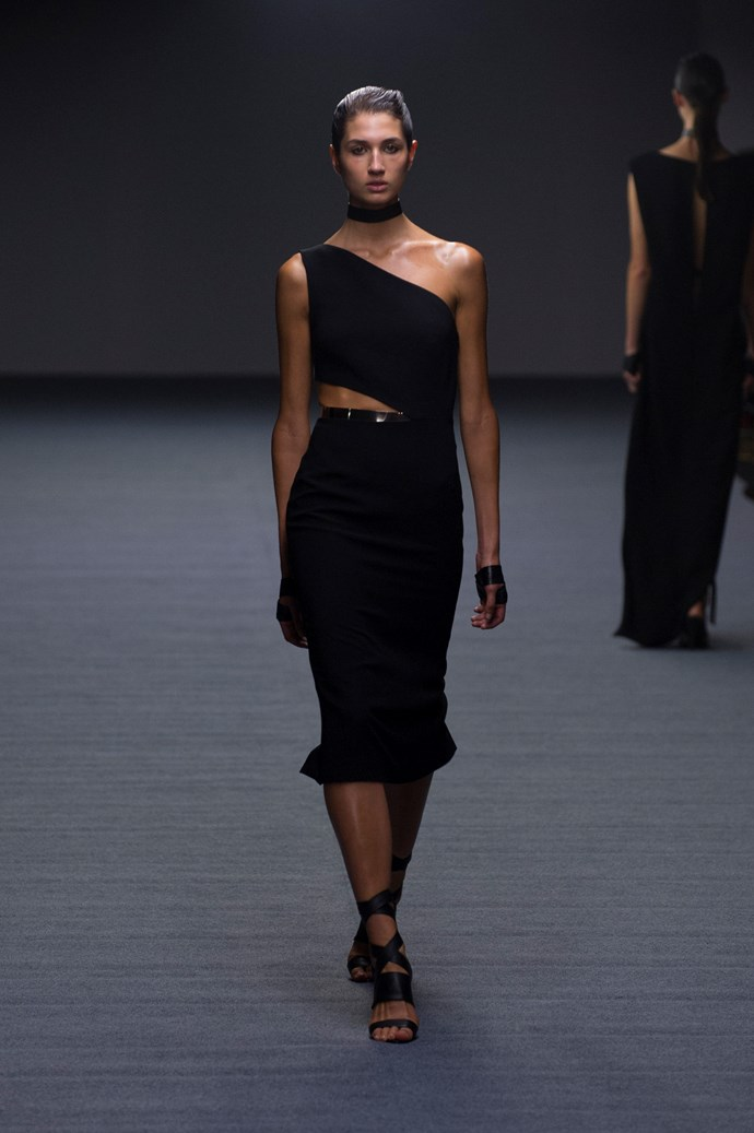 An asymmetrical look at Carla Zampatti SS14 <br> <br> Photography: Ken Butti <br><br>
