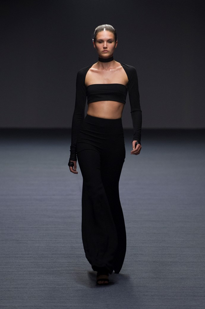 The bandeau is back: Carla Zampatti SS14 <br> <br> Photography: Ken Butti <br><br>