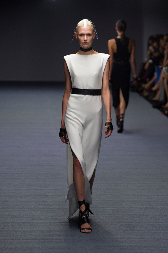 Future-cool silhouettes at Carla Zampatti SS14 <br> <br> Photography: Ken Butti <br><br>