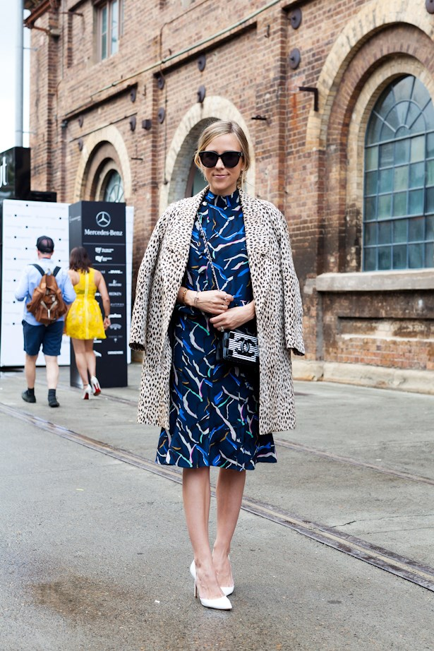 Clashing prints and a Chanel Lego bag have never looked better