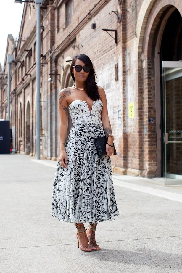 Melanie Tan Meyer wears Shakuhachi bustier and skirt.