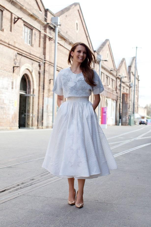Rikki Lee wears Toni Maticevski top and skirt.