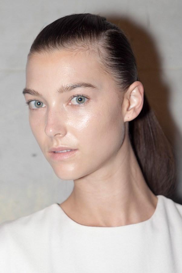 Minimal makeup at Mercedes Benz Fashion Week