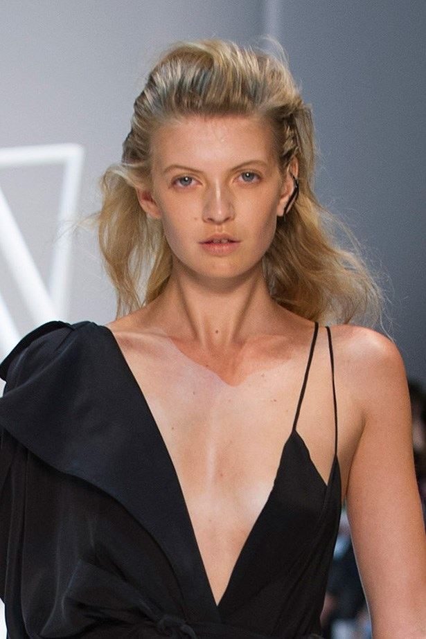 The coiffe at Michael Lo Sordo's show was all about natural textures and windswept flyaways.