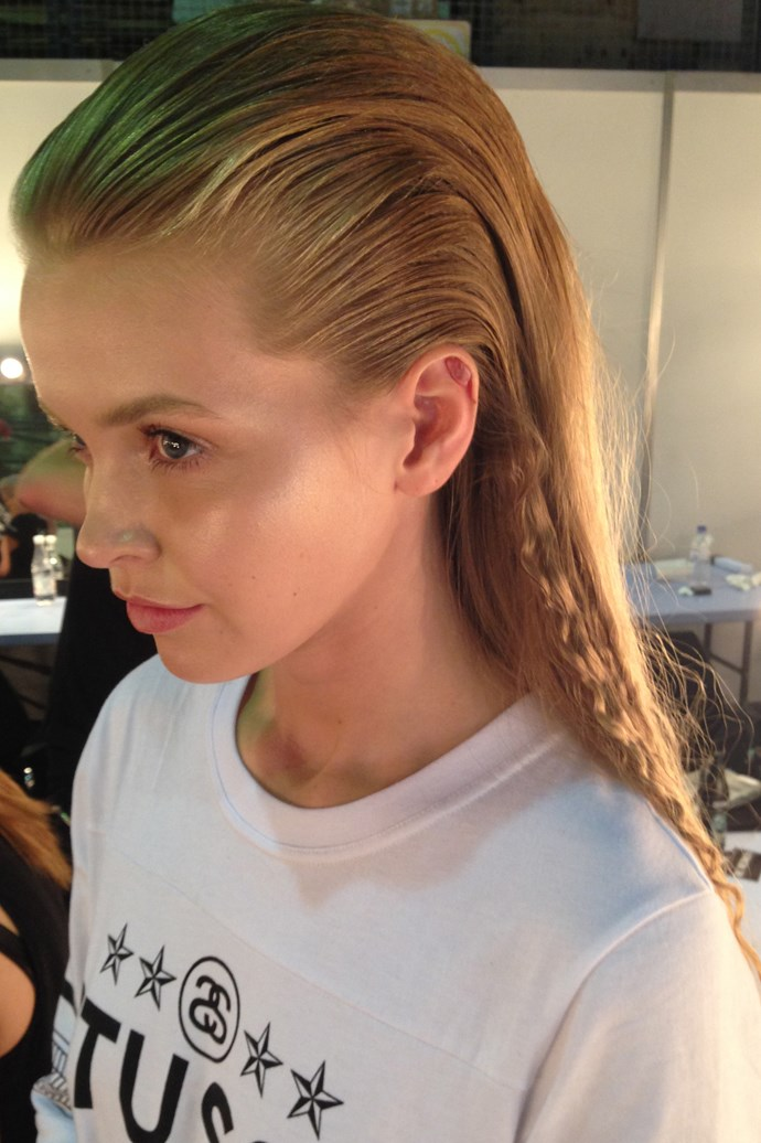 The backcombed, mermaid inspired quiff at Gail Sorronda.