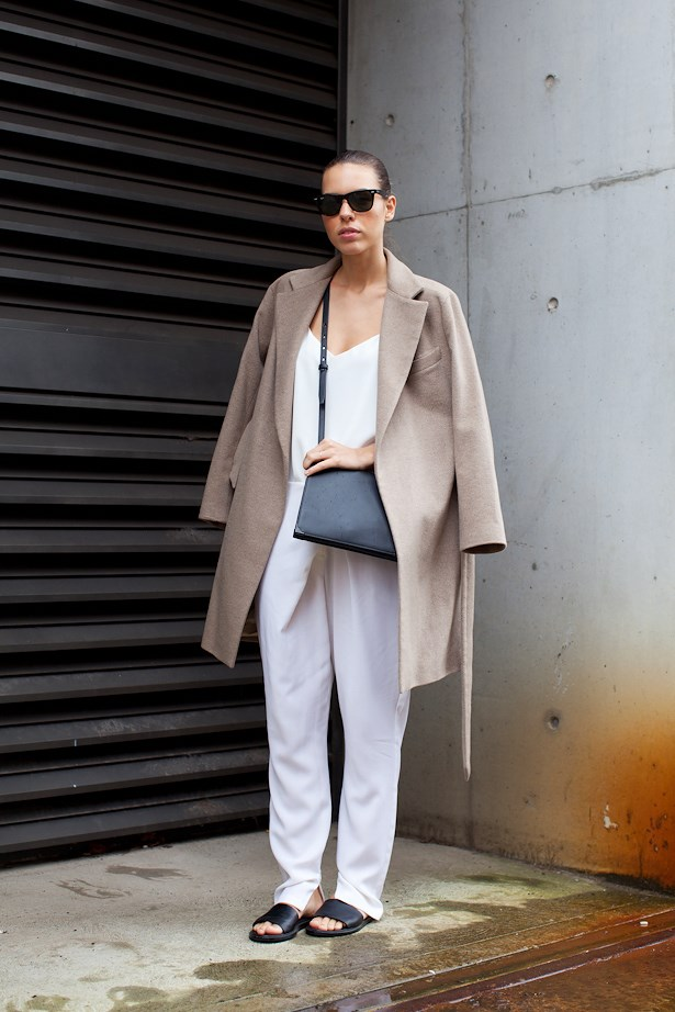 Kaitlyn Ham wears Zara jacket, Camilla and Marc top, Nicholas pants and Alexander Wang pants.