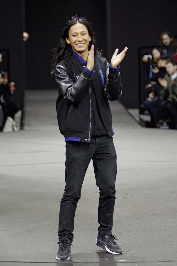 Alexander Wang on the runway