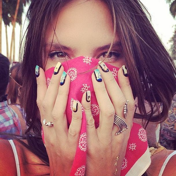 Alessandra Ambrosio for Most Nostalgic Nail Art.