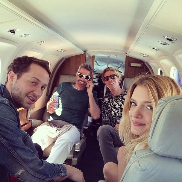 Derek Blasberg, Lily Donaldson and pals for Best Use Of A Private Jet Since 'Wolf Of Wall Street'.