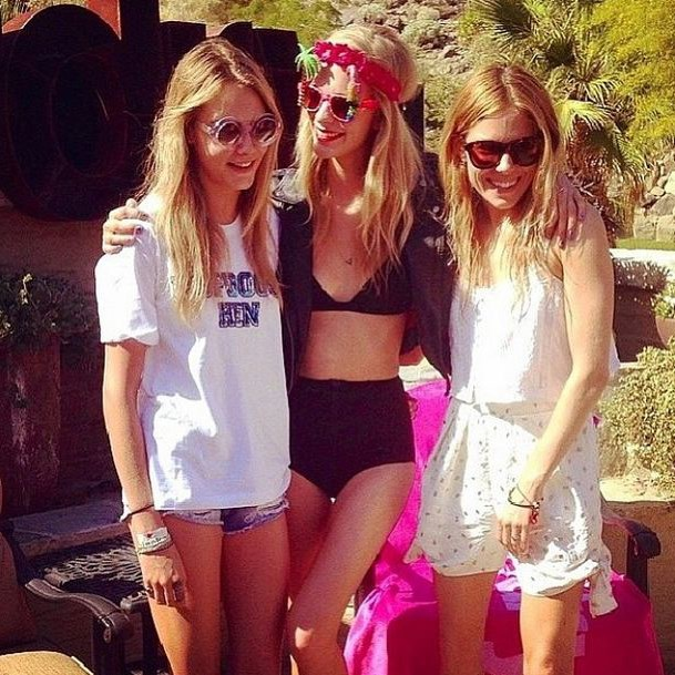 Cara Delevingne, Poppy Delevingne and Sienna Miller for Most Backyard BBQ-Perfect Attire.