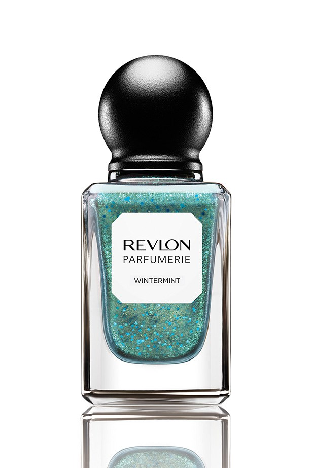 Scented Nail Enamel in Winter Mint, $15.95, Revlon Parfumerie, 1800 024 588