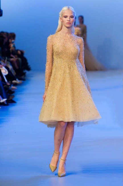 In a true fairytale wedding, all bridesmaids wear Elie Saab Haute Couture SS14