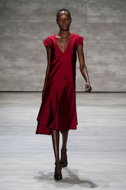 Ruby red is a classic option for all bridesmaids at Tome AW14-15