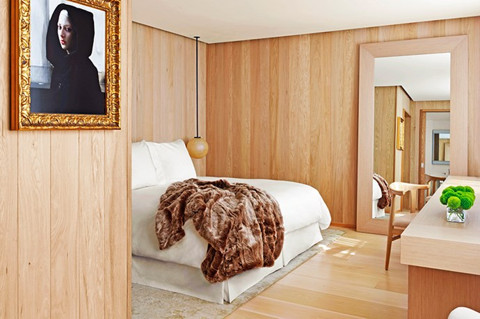 <p><strong>Do not disturb</strong></p> <p>Wood panelling and warm tones offer a cool, masculine environment softened by faux-fur throws and beds soft enough to contemplate breakfast and lunch in bed. The only motivation to leave is all of the action happening in the bars and foyer.</p>