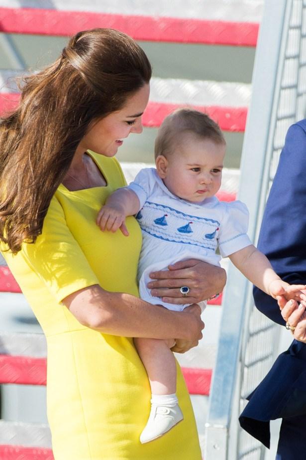 HRH Catherine and Baby Prince George arrive in Sydney Airport last week.